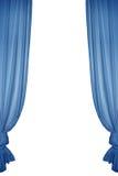 Cortina azul isolada Imagem de Stock Royalty Free