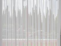 Cortina blanca de la tela Imágenes de archivo libres de regalías