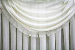 Cortina branca Fotografia de Stock