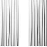 Cortina branca vazia no fundo branco, 3d Imagem de Stock Royalty Free