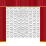 cortina ilustração do vetor