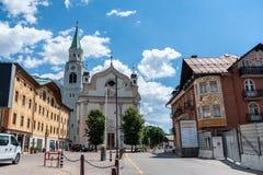 Cortina D ` Ampezzo royalty-vrije stock afbeelding