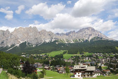 Cortina d'Ampezzo Stock Photography