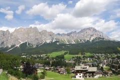 Cortina d'Ampezzo 图库摄影
