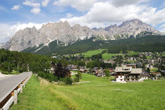 Cortina d'Ampezzo Royalty Free Stock Photos