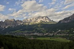 Cortina d Ampezzo Royalty Free Stock Image