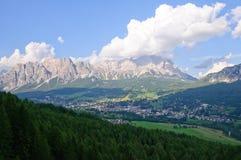 Cortina d'Ampezzo, Italia Fotografia Stock Libera da Diritti