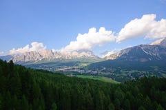 Cortina d'Ampezzo, Italia Immagini Stock Libere da Diritti