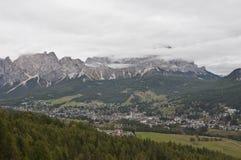 Cortina d'Ampezzo, Italy. Royalty Free Stock Photos