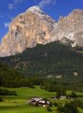 Cortina D Ampezzo resort Stock Image