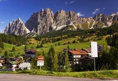 Cortina D Ampezzo resort Royalty Free Stock Photo