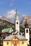 Cortina D Ampezzo resort Royalty Free Stock Images
