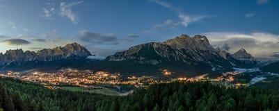 Cortina D Ampezzo. Town in the Italian Alps Dolomite range Royalty Free Stock Photo