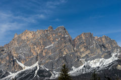 CORTINA D'AMPEZZO, VENETO/ITALY - MARCH 27 : View of the Red Mou Stock Photo