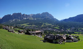 Cortina d'Ampezzo village in Italy royalty free stock images
