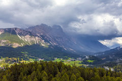 Cortina dAmpezzo after storm - Italy Royalty Free Stock Images