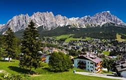 Cortina dampezzo, Włochy Zdjęcia Stock