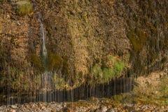 Cortina de agua en Maria Alm, Austria Fotos de archivo