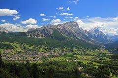 Cortina de Ampezzo fotografie stock libere da diritti
