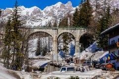 Cortina de Ampezzo Italia Fotos de archivo libres de regalías