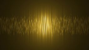 Cortina de la onda, fondo del oro, animación digital inconsútil del lazo de la textura orgánica del oro en la era del AI stock de ilustración