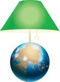 Cortina de lámpara verde Imagenes de archivo