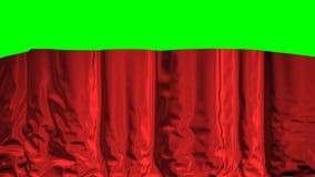 Cortina de queda em um fundo verde ilustração royalty free