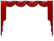 Cortina de teatro Imagen de archivo libre de regalías