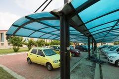 Cortina del estacionamiento del coche Imágenes de archivo libres de regalías
