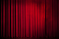 Cortina del rojo del teatro Foto de archivo