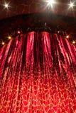 Cortina del teatro Imagen de archivo libre de regalías