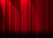 Cortina del teatro Fotografía de archivo