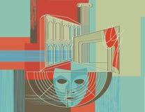 Cortina del teatro   Imagen de archivo