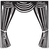 Cortina del teatro Fotografía de archivo libre de regalías