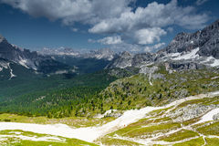 Cortina di A'mpezzo ski slopes and mountains Royalty Free Stock Photos
