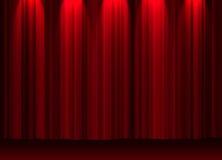 Cortina do teatro Imagens de Stock