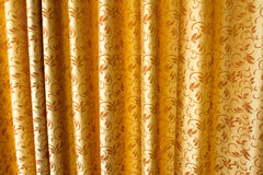 Cortina dourada Imagens de Stock Royalty Free