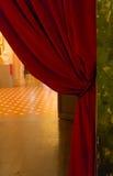 Cortina en un teatro Fotografía de archivo