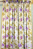 Cortina floral Fotografia de Stock Royalty Free