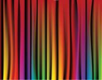 Cortina fresca del arco iris