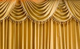 Cortina ligera de la vertical del oro Fotografía de archivo libre de regalías