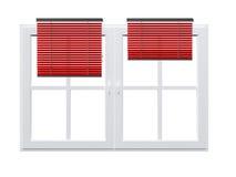 Cortina listrada em Windows ilustração stock