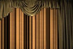 cortina marrom Fotos de Stock