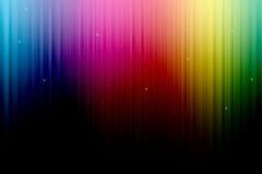 Cortina multicolora de la etapa Fotos de archivo