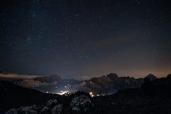 Cortina Night Landscape Imagem de Stock