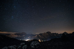 Cortina Night Landscape Stock Image