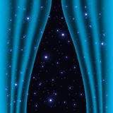 Cortina no espaço Ilustração do Vetor