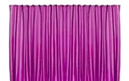 Cortina púrpura aislada imagenes de archivo
