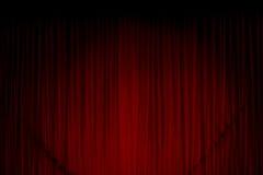 Cortina roja Foto de archivo libre de regalías