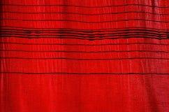 Cortina roja Imágenes de archivo libres de regalías